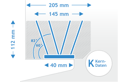 Polycarbonat Taubenspikes Kerndaten