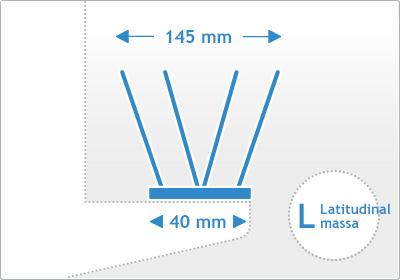 Taubenspikes Edelstahl Breitenmaß