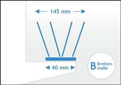 Taubenspikes Kunststoff Breitenmaß